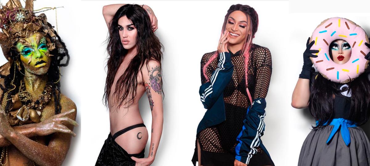 """Alma Negrot, Adore Delano, Pabllo Vittar e Kim Chi no projeto """"The Drag Series"""""""