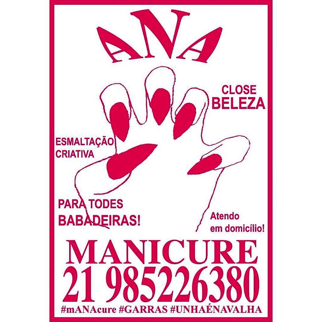 Anúncio de Ana como manicure babadeira. Retirado da conta pessoal da artista no Instagram.