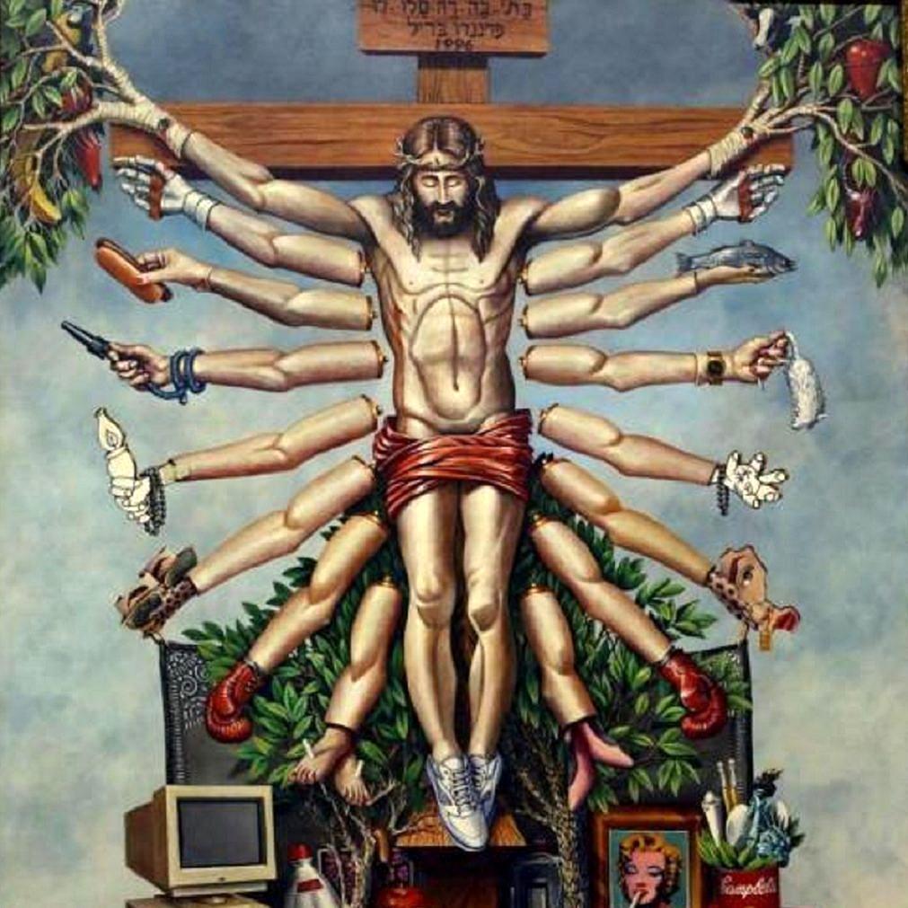 """""""Cruzando Jesus Cristo com o Deus Shiva"""", obra de Fernando Baril que integra a """"Queermuseu"""" e foi taxada de """"profana"""" (Foto: Reprodução)"""