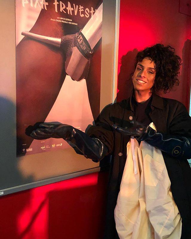 """Linn da Quebrada durante exibição de """"Bixa Travesty"""" na Berlinale (Foto: Reprodução Instagram)"""
