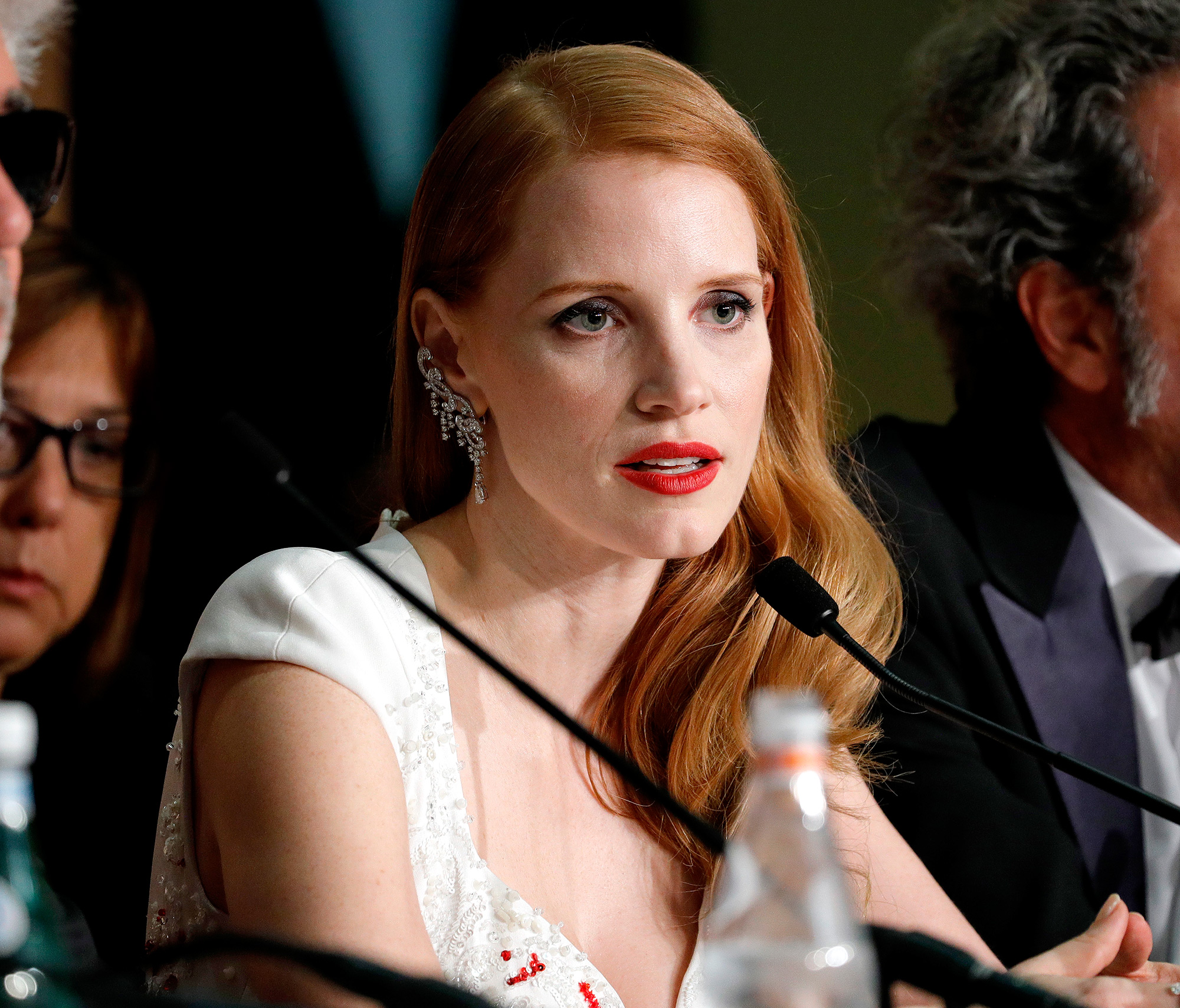 Presente no júri de 2017, Jessica Chastain criticou publicamente o Festival de Cannes pela forma como as mulheres eram representadas nos filmes da competição (Foto: Getty Images)