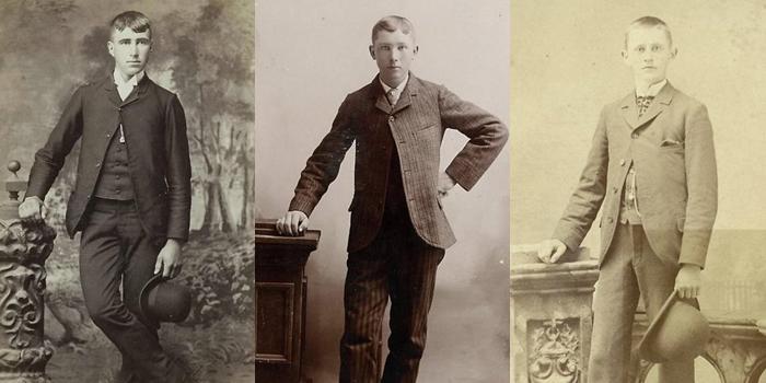 """Meninos do Paresis Hall posam para o """"catálogo"""" do bar: Francis """"Bengala de Cavalo"""", rapaz não-identificado e Nate """"O Menino"""" Cullen (Foto: Reprodução)"""