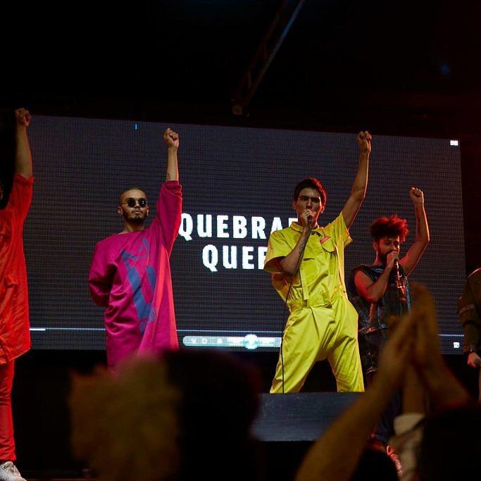 Registro do primeiro show do coletivo Quebrada Queer no Largo do Arouche, em São Paulo. Foto: @Henrique Lambiazi