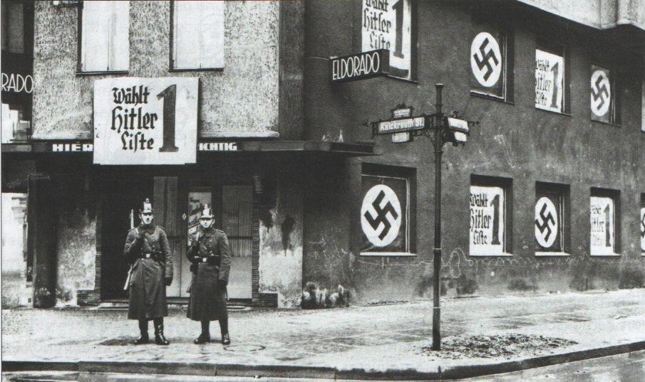 Fachada do bar Eldorado, em Schonenberg, ocupada pelo Partido Nazista (Foto: Reprodução)