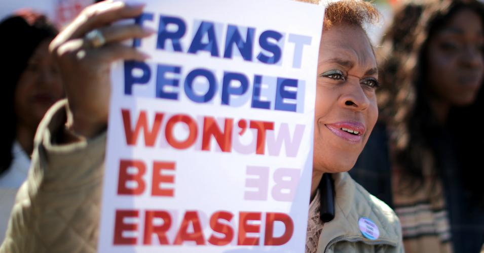 #WontBeErased: população trans protesta contra medida do governo Trump (Foto: Getty Images)