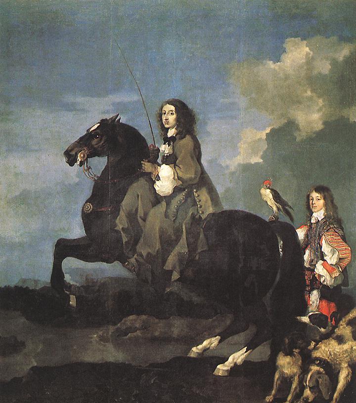 Retrato de Cristina da Suécia, pintado em 1653 por Sébastien Bourdon (Foto: Reprodução)