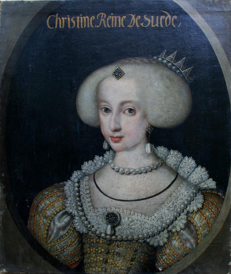 Retrato de Rainha Cristina aos 14 anos, pintado por Jacob Heinrich Elbfas (Foto: Reprodução)