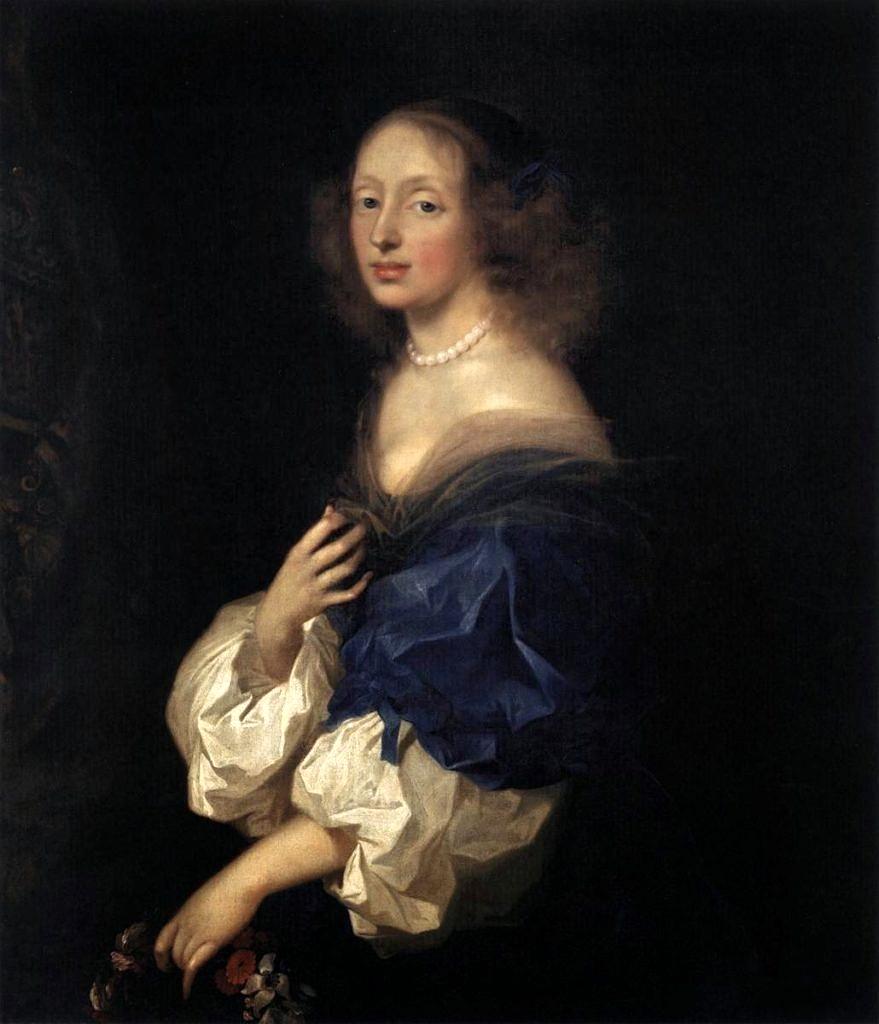Retrato de Ebba Sparre, Condessa de Bourbon, pintado por Cora Cora Wandel (Foto: Reprodução)