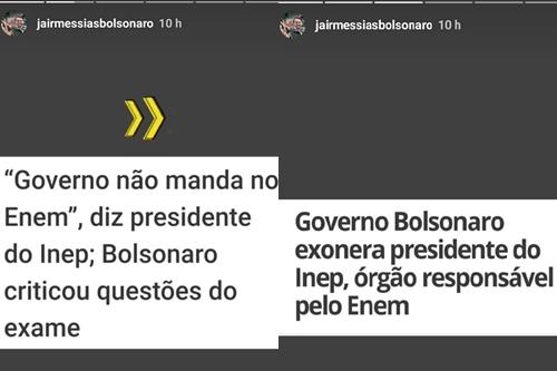 Bolsonaro zomba de declaração feita por Maria Inês Fini sobre o ENEM após exonerá-la do Inep (Foto: Reprodução)