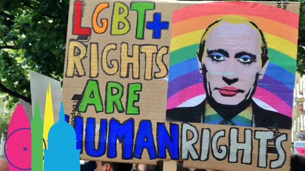 Ativistas europeus têm marchado por todo o continente para protestar contra a situação da Chechênia e exigir medidas mais drásticas de Vladimir Putin (Foto: Getty Images)