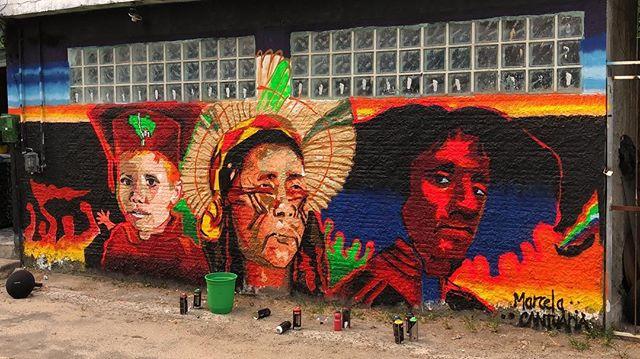 Mural da Rede Nami com homenagem a Matheusa Passarelli (Foto: Divulgação)