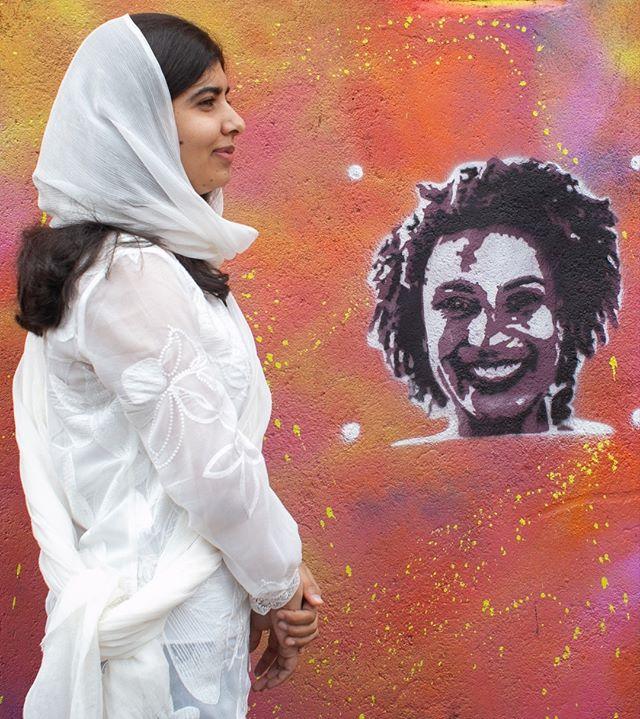 Malala Yousafzai durante sua visita ao circuito da Rede Nami (Foto: Reprodução Instagram)