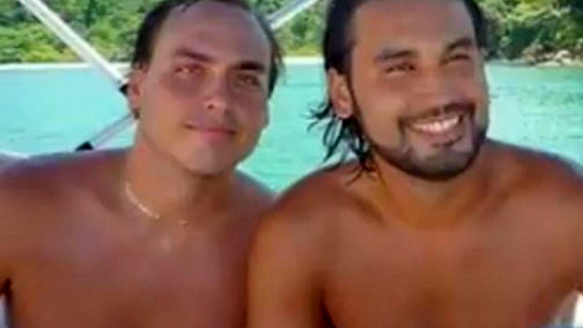 Carlos Bolsonaro e seu primo, Leo Índio (Foto: Reprodução)