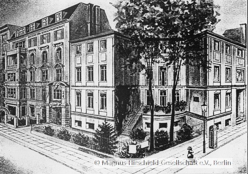 Fachada do Institut für Sexualwissenschaft durante a década de 1920 (Foto: Reprodução)