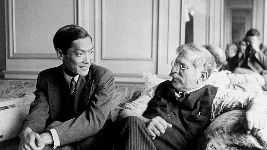 Magnus Hirschfeld e Li Shiu Tong durante a Liga Mundial pela Reforma Sexual, em 1932 (Foto: Reprodução)