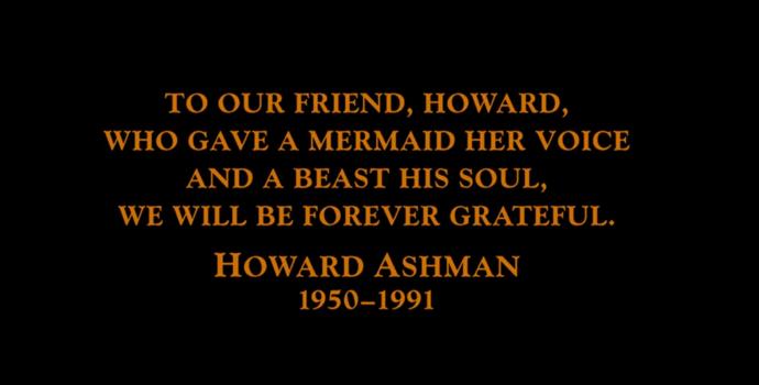 """Homenagem a Howard Ashman nos créditos finais de """"A Bela e a Fera"""" (Foto: Reprodução)"""