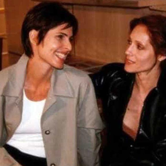 """Silvia Pfeifer e Christiane Torloni durante as gravações de """"Torre de Babel"""" (Foto: Divulgação)"""
