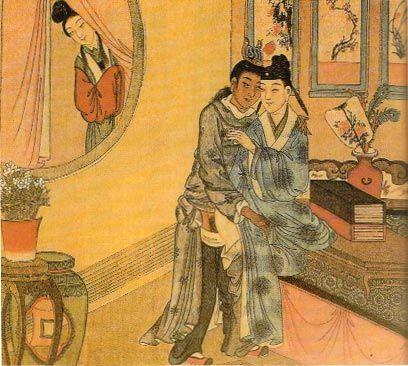Ilustração de Mizi Xia e o Duque Ling de Wei, na China de 500 a.C.; naquela época, a bissexualidade era encarada como algo natural (Foto: Reprodução)