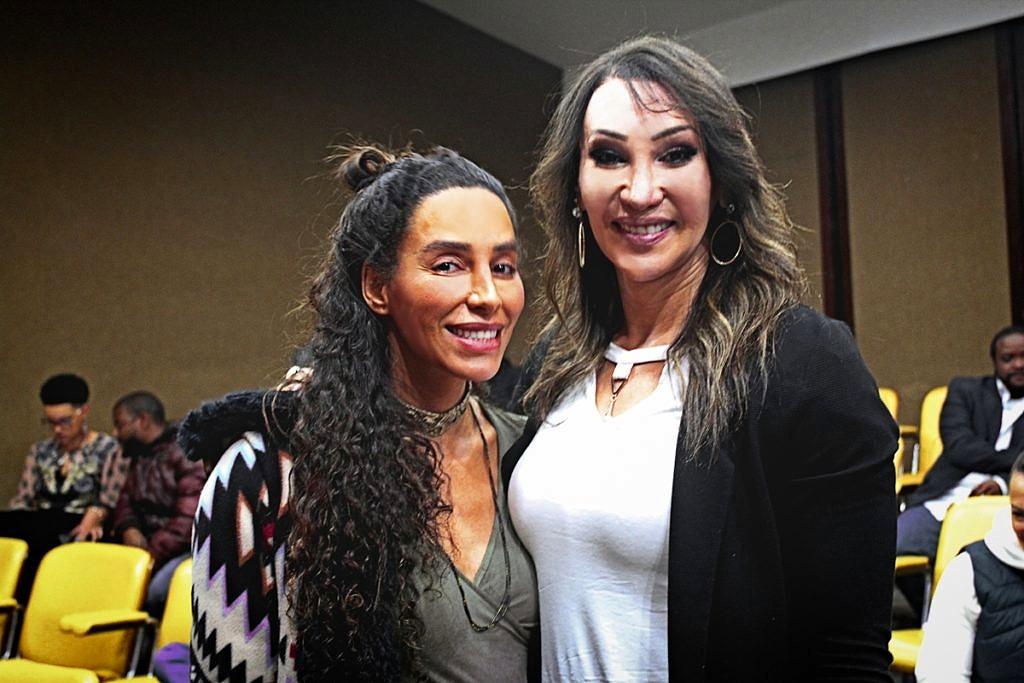 Lea T e Tifanny Abreu durante audiência pública na Alesp para discutir a presença de atletas trans no esporte (Foto: João Ker | Revista Híbrida)