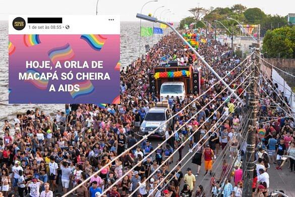 19ª Parada do Orgulho LGBT de Macapá atraiu 60 mil pessoas à orla da capital (Foto: Gabriel Penha | Reprodução)