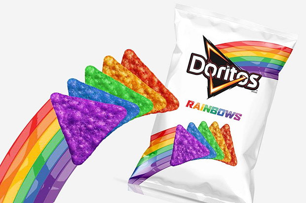 Comercializado apenas no mês de junho, Doritos Rainbow terá edição especial durante o Rock In Rio (Foto: Divulgação)