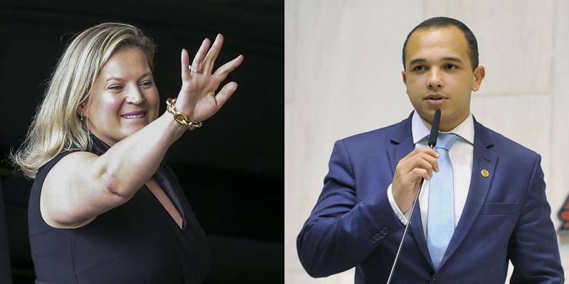 Joice Hasselmann e Douglas Garcia (Valter Campanato | Agência Brasil | Carol Jacob | Alesp)