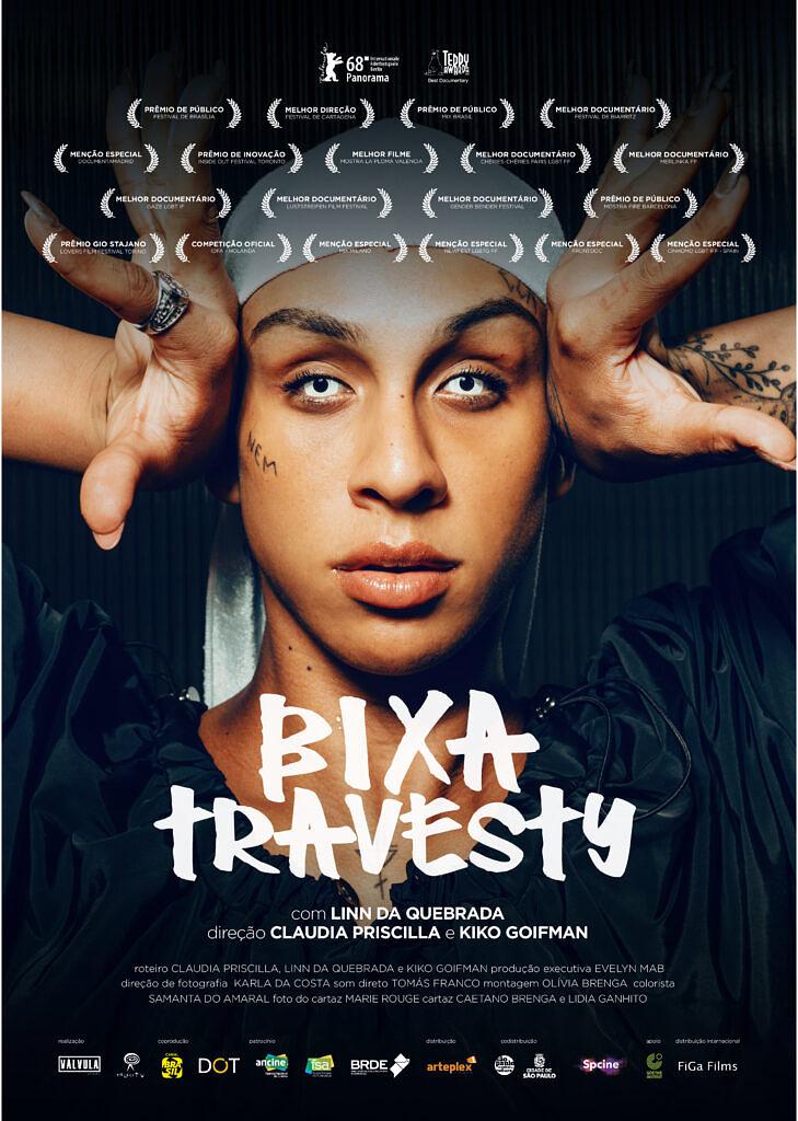 """Pôster oficial de """"Bixa Travesty"""", documentário estrelado por Linn da Quebrada em cartaz nos cinemas (Foto: Reprodução)"""