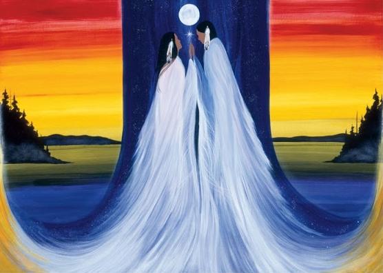 """Quadro """"Two-spirit meet"""", de Betty Albert (Reprodução)"""