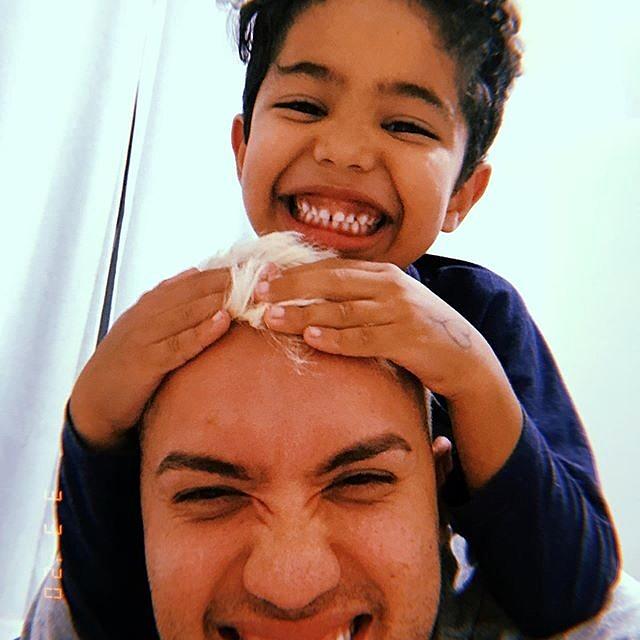 Bruno com o filho de seis anos, Noah (Foto: Reprodução Instagram)