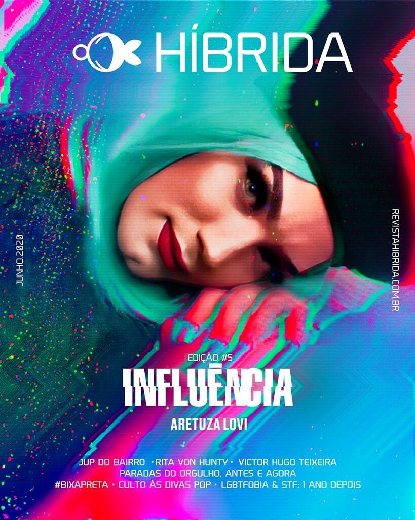 """Capa da Híbrida, Edição #5 - """"INFLUÊNCIA"""" (clique para ler)"""