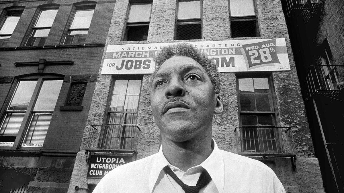Bayard Rustin, o ativista negro e gay que liderou a luta pelos Direitos Civis nos EUA (Foto: Reprodução | AP)