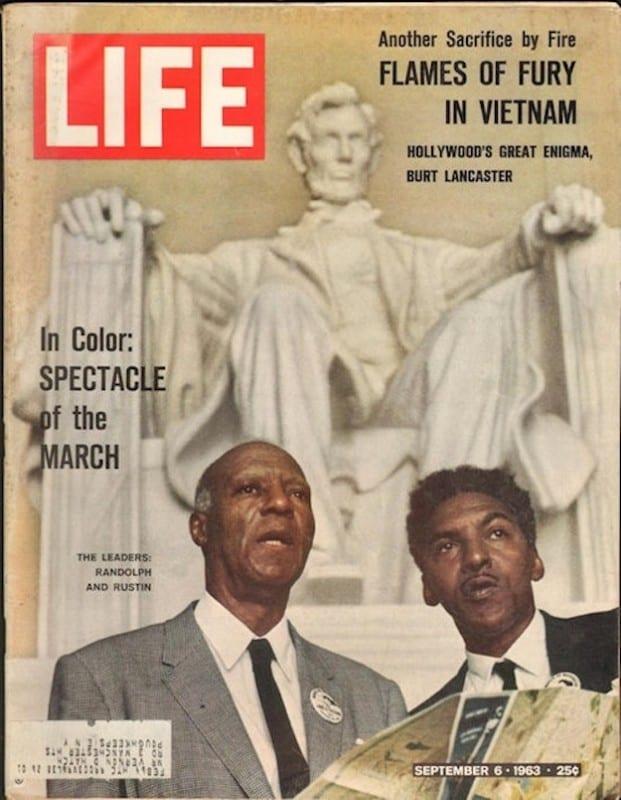Capa da revista LIFE de 6 de setembro de 1963, com Bayard Rustin ao lado de Phillip Randolph (Foto: Reprodução)