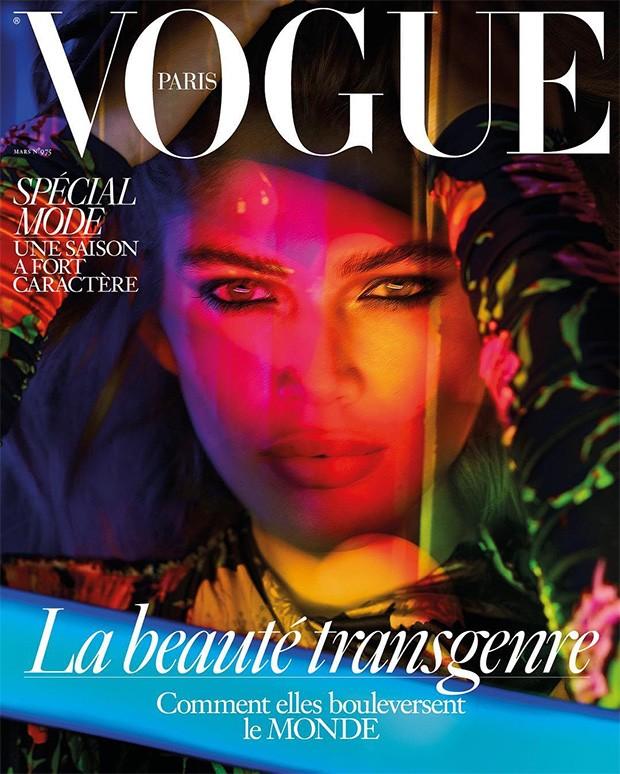 Valentina em uma das capas da Vogue Paris de março de 2017 (Foto: Reprodução)