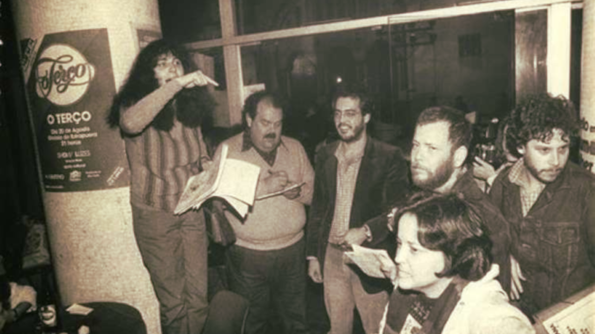 Levante de lésbicas no Ferro's Bar, em 1983, que deu origem ao Dia do Orgulho Lésbico, no Brasil (Foto: Reprodução)