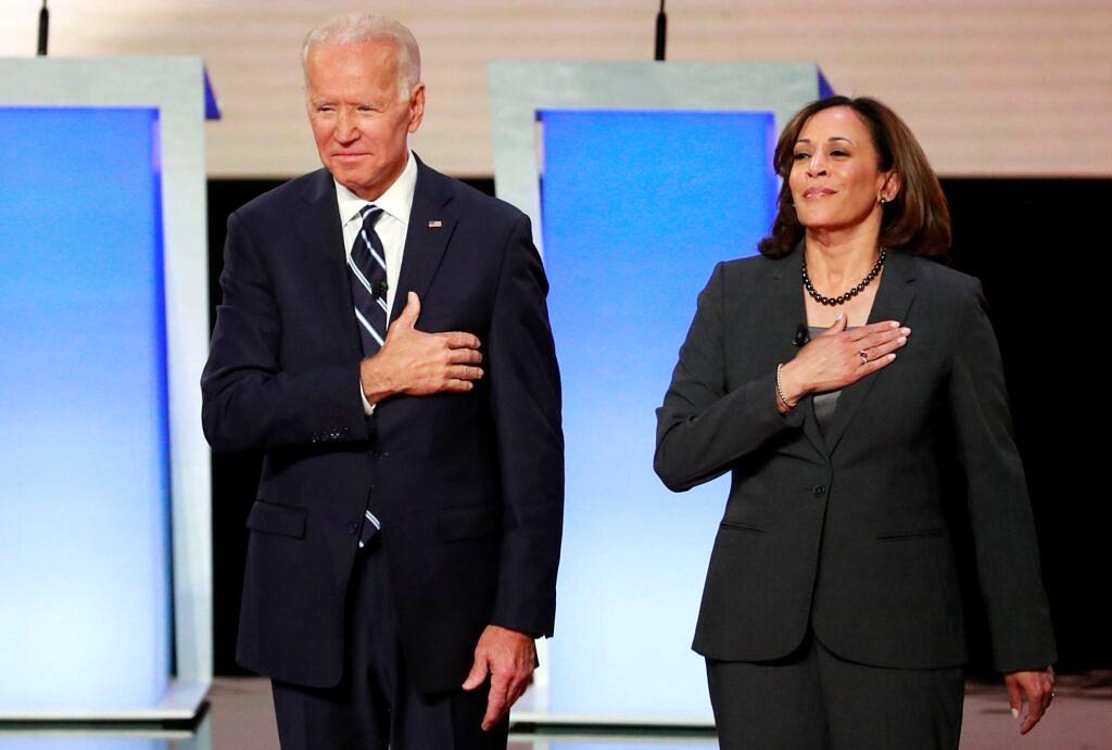 Joe Biden e Kamala Harris vão disputar as eleições presidenciais dos EUA em 2020 pelo Partido Reprodução)