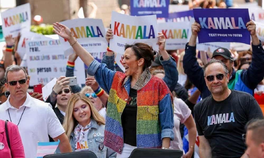 Kamala Harris durante a Parada do Orgulho LGBT+ de São Francisco de 2019 (Foto: Reprodução)