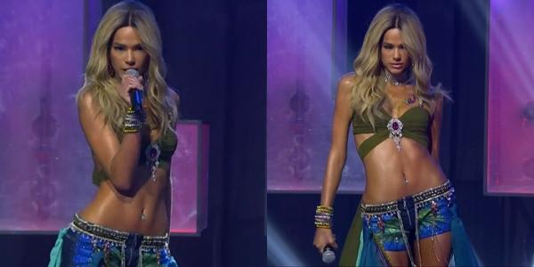 """Bruna Marquezine incorpora Britney Spears em """"I'm a Slave 4 U"""" no MTV Miaw 2020 (Foto: Reprodução)"""