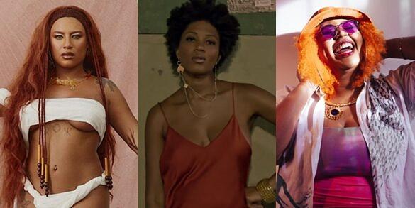 Mel, Luedji Luna e Luiza Nobel são algumas das artistas LGBTI+ brasileiras que lançaram música nova nas últimas semanas (Foto: Reprodução)