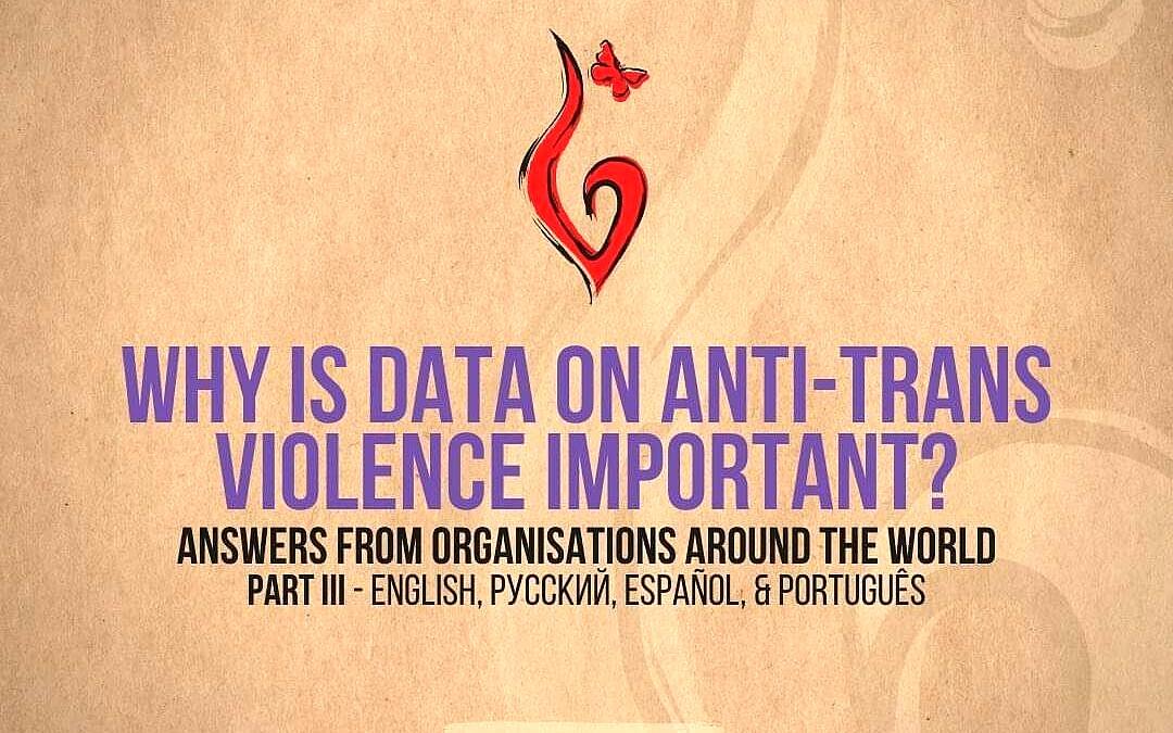 Por que dados sobre violência anti-trans são importantes? (Fonte: Transrespect)