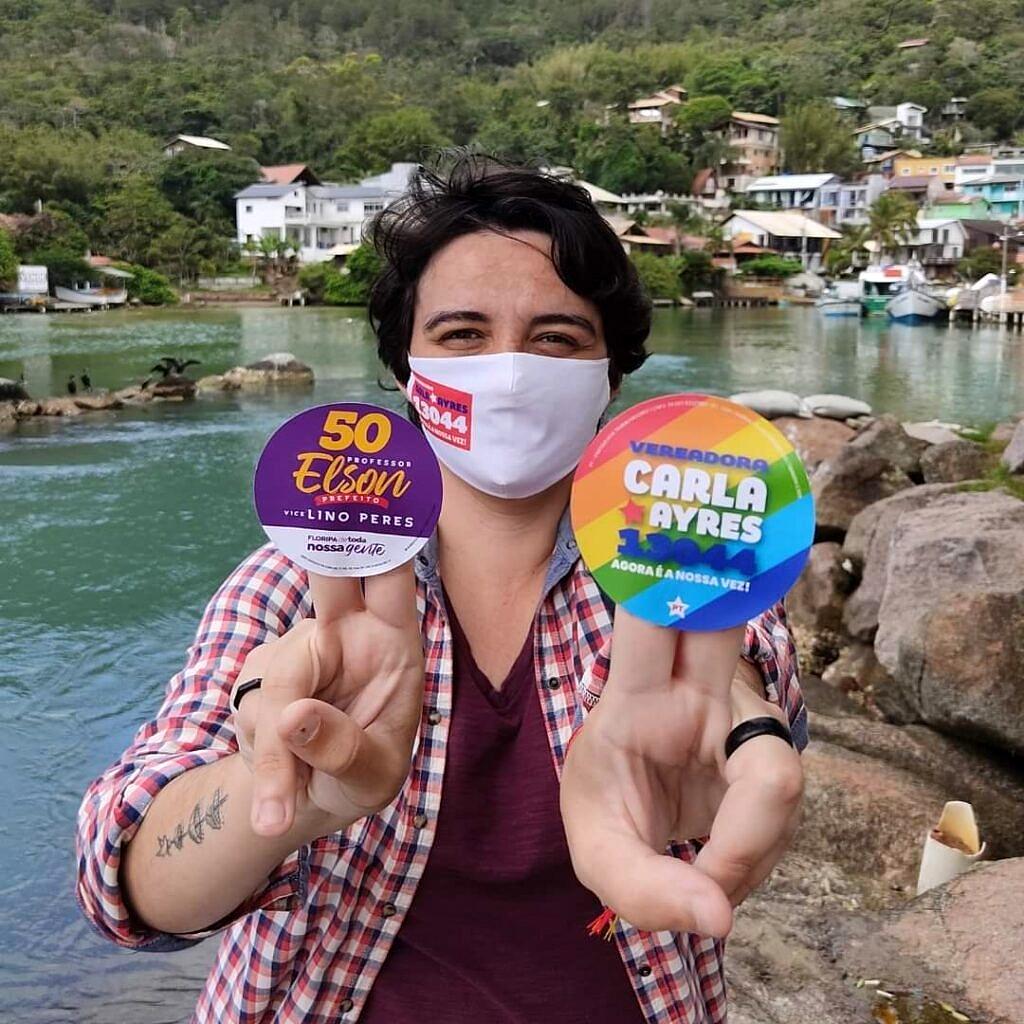 Carla Ayres (PT) é eleita vereadora em Florianópolis (Foto: Reprodução)