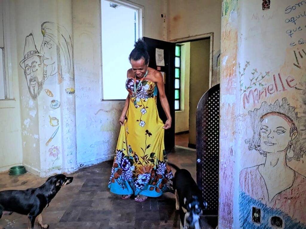 Cláudia, ex-moradora trans da Casa Nem que morou lá por quatro anos e acompanhou toda a trajetória (Foto: Pokira   Revista Híbrida)