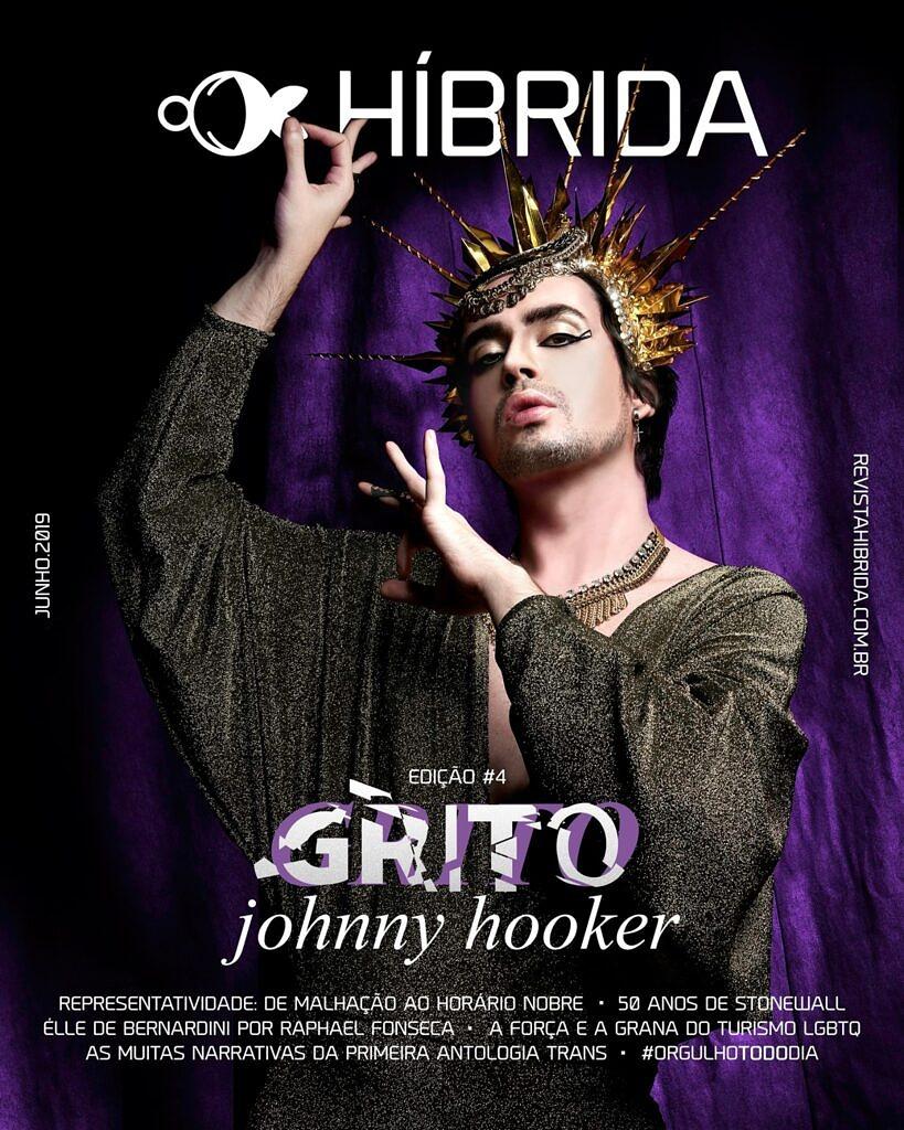 """Clique na imagem para ler a 4ª edição da Revista Híbrida, """"GRITO"""", com Johnny Hooker na capa"""