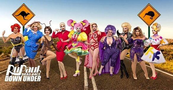 Elenco oficial da 1ª edição de RuPaul's Drag Race Down Under, versão australiana do reality show (Foto: Divulgação)