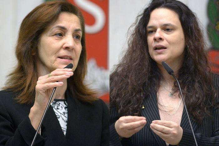 As deputadas estaduais Marta Costa (PSD) e Janaina Paschoal (PSL) são favoráveis ao PL 540/2020 (Fotos: Jose Antonio Teixeira   Maurício Garcia de Souza   Alesp)