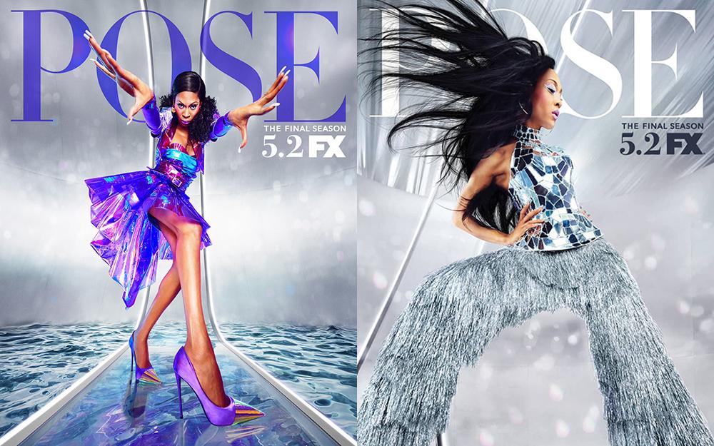 Elektra (Dominique Jackson) e Blanca (MJ Rodriguez) nos cartazes divulgados da 3ª e última temporada de Pose (Foto: Divulgação)