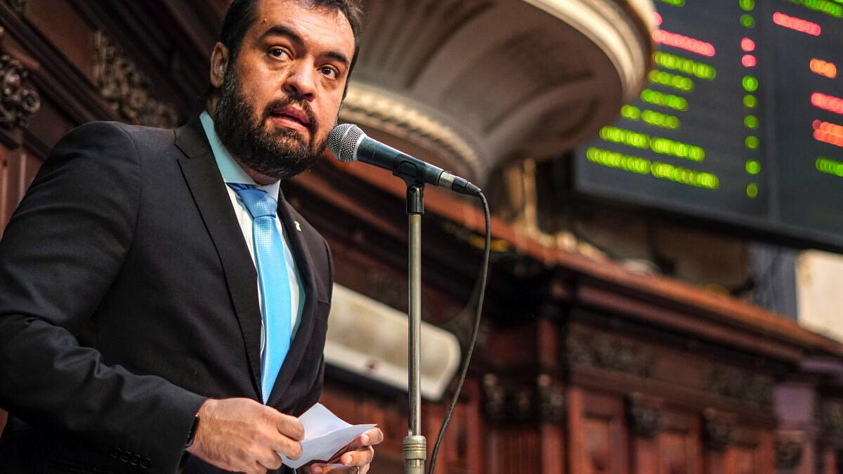 O governador do Estado do Rio de Janeiro, Cláudio Castro (PSC) (Foto: Thiago Lontra / Alerj)