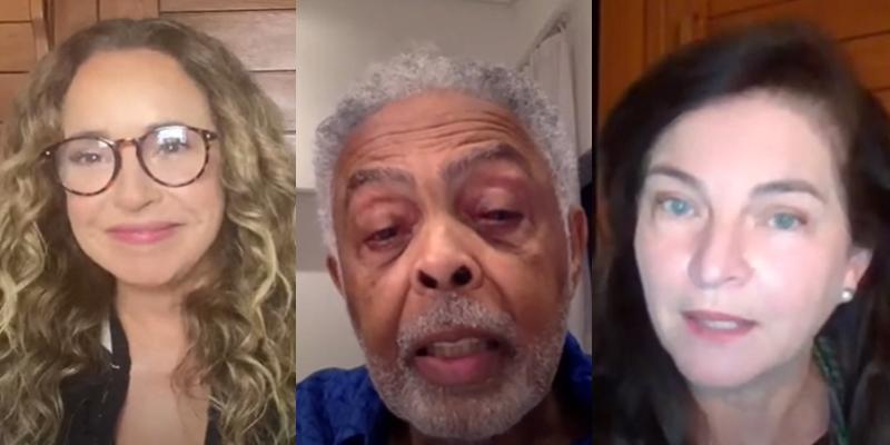 Daniela Mercury, Gilberto Gil e Raquel Dodge em reunião sobre Liberdde de Expressão no Observatório dos Direitos Humanos do CNJ (Foto: Reprodução)