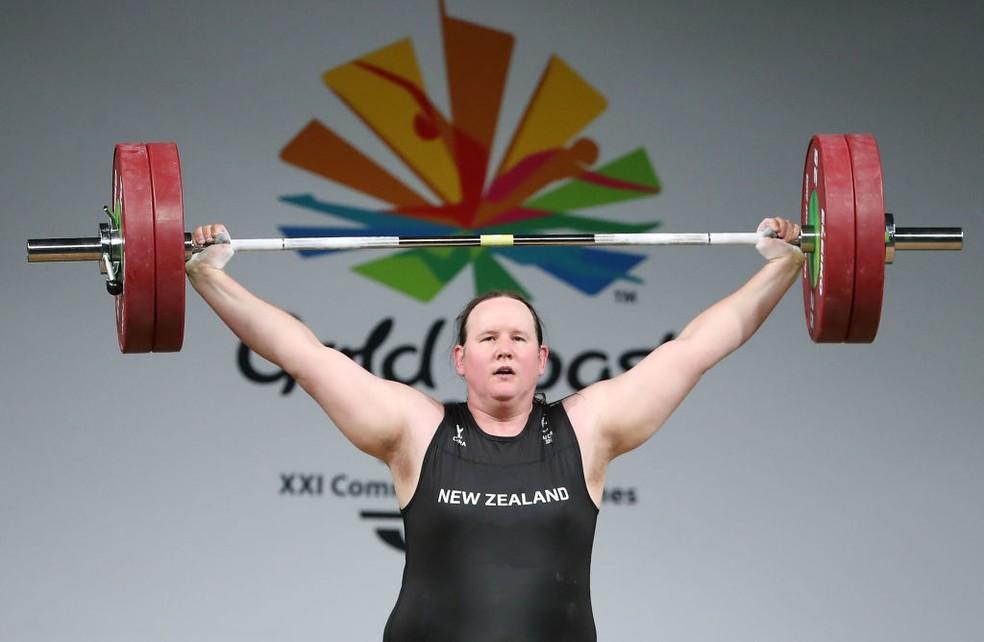 Laurel Hubbard - Levantamento de Peso +87kg / Nova Zelândia (Foto: Scott Barbour/Getty Images)