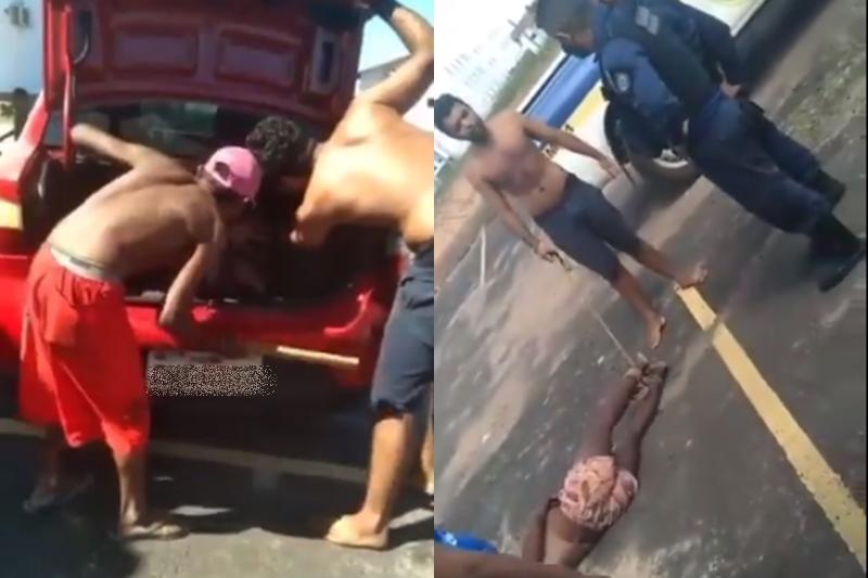 Travesti é torturada em porta-malas na cidde de Teresina, capital do Piauí (Foto: Reprodução)