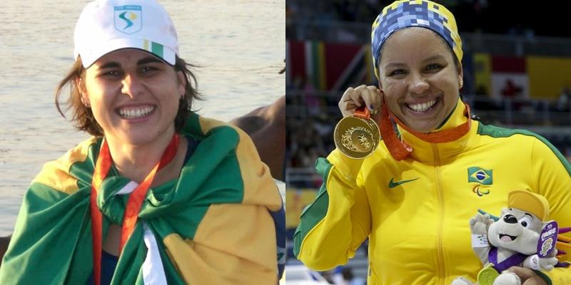Josiane Lima, do Remo, e Edênia Garcia, da Natação, representam o Brasil nas Paralimpíadas de Tóquio 2020